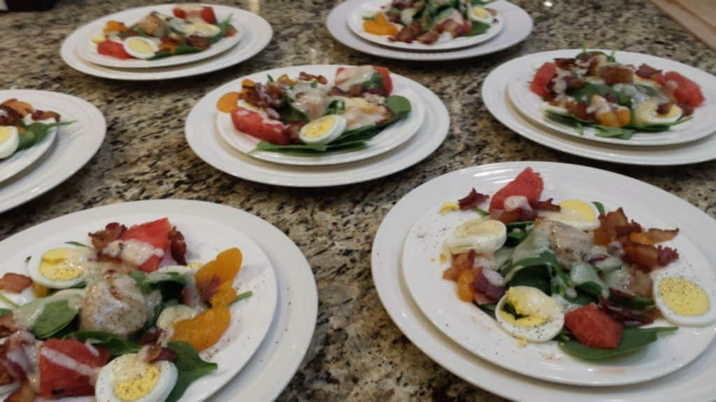 catered plates